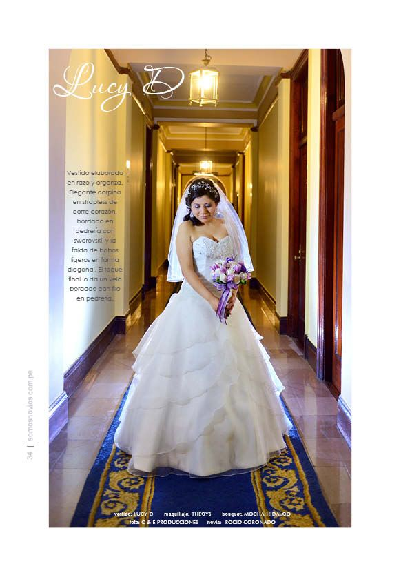 vestido: LUCY D maquillaje: THEGYS bouquet: MOCHA HIDALGO foto: C & E PRODUCCIONES novia:  ROCIO CORONADO
