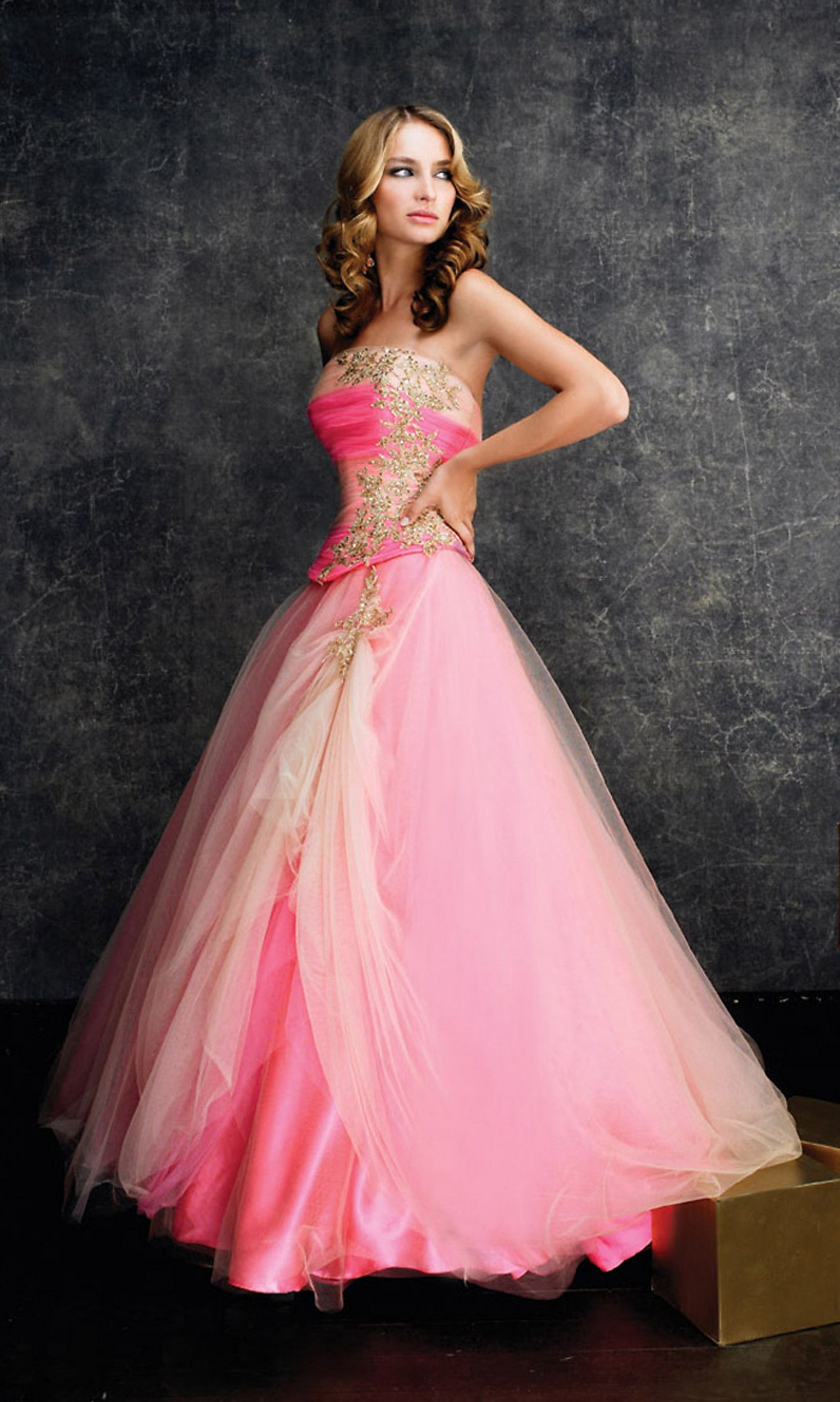 Princess dress. I actually think I have a Barbie with this dress ...