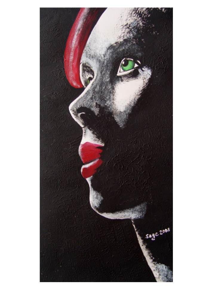 Scarlett-Akrilik 50x20 cm. 2008 Artist: Salih Gecimli