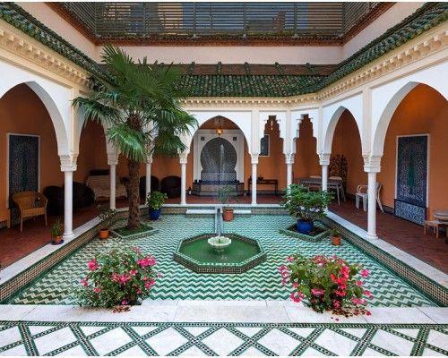 Superbe Villa Marocaine En Plein Coeur Thermal Avec Patio Fontaine