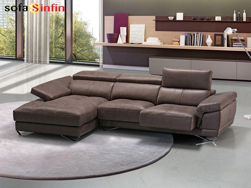 Sofassinfin.es Sofá 3 y 2 plazas con chaise-longue modelo Vila ...
