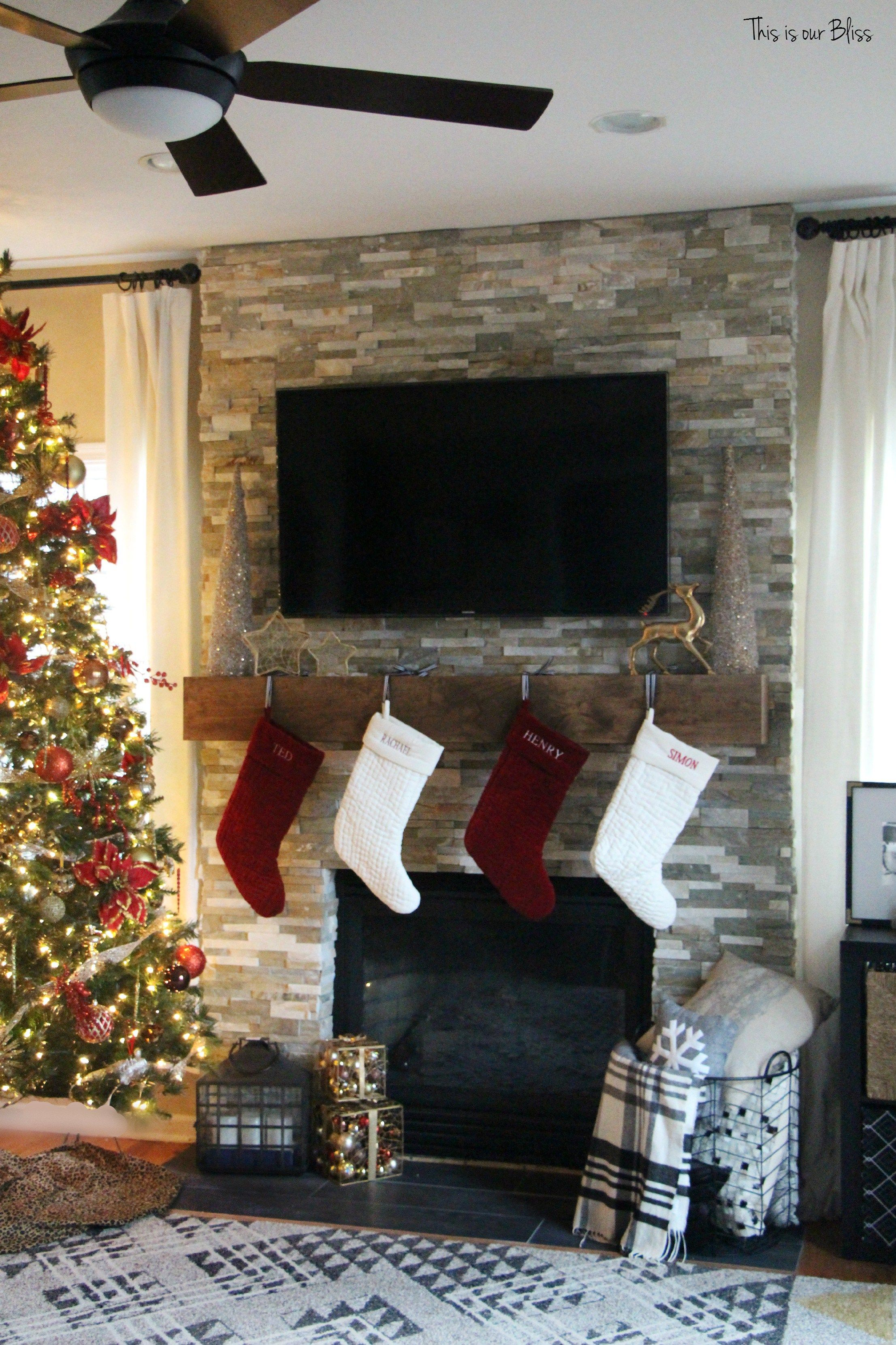Photo of Merry, Bright & Blissful Holiday Home | Family Room + [more of the new] Mantel – This is our Bliss