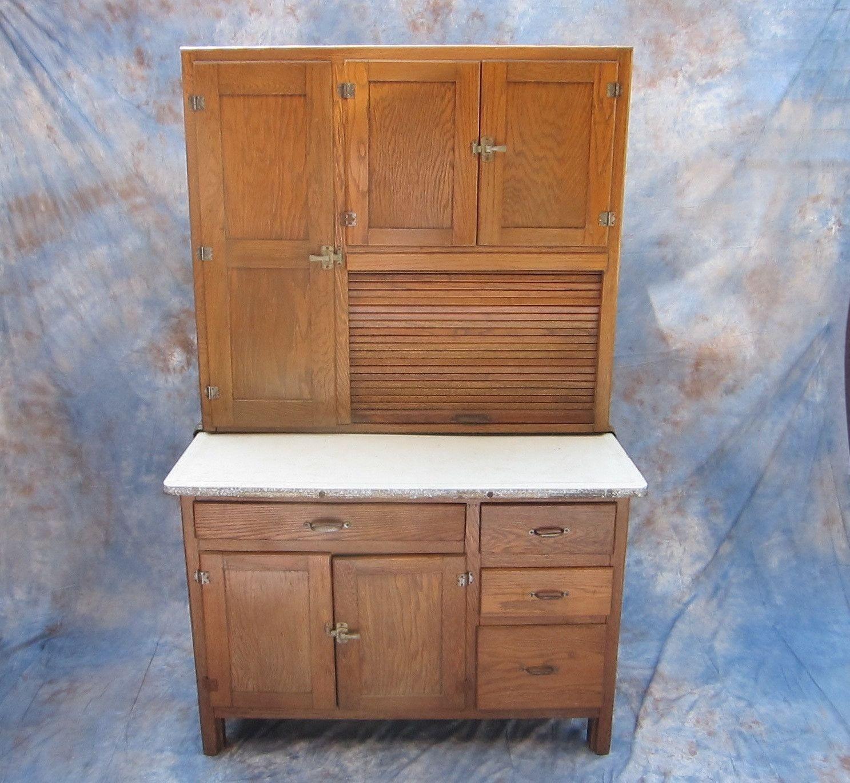 Antique Kitchen Hutch And Buffet: Antique Kitchen Hoosier Buffet Cabinet