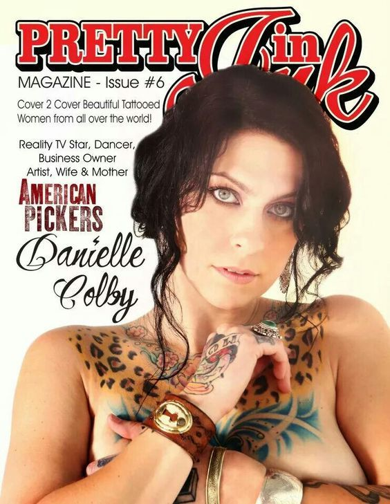 Sexy american pickers danielle colby cushman antique for Tv show with tattooed woman