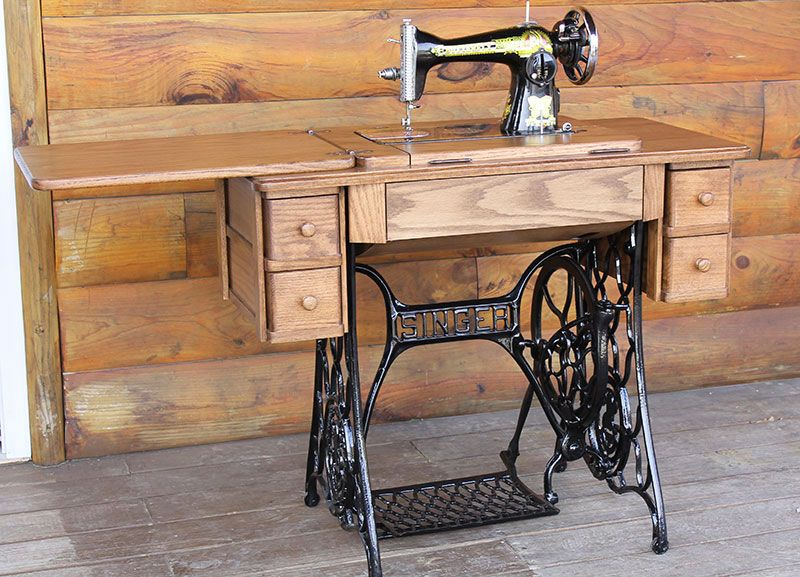 Heritage Reproduction Oak Treadle Cabinet Replacement Top | Sewing ...