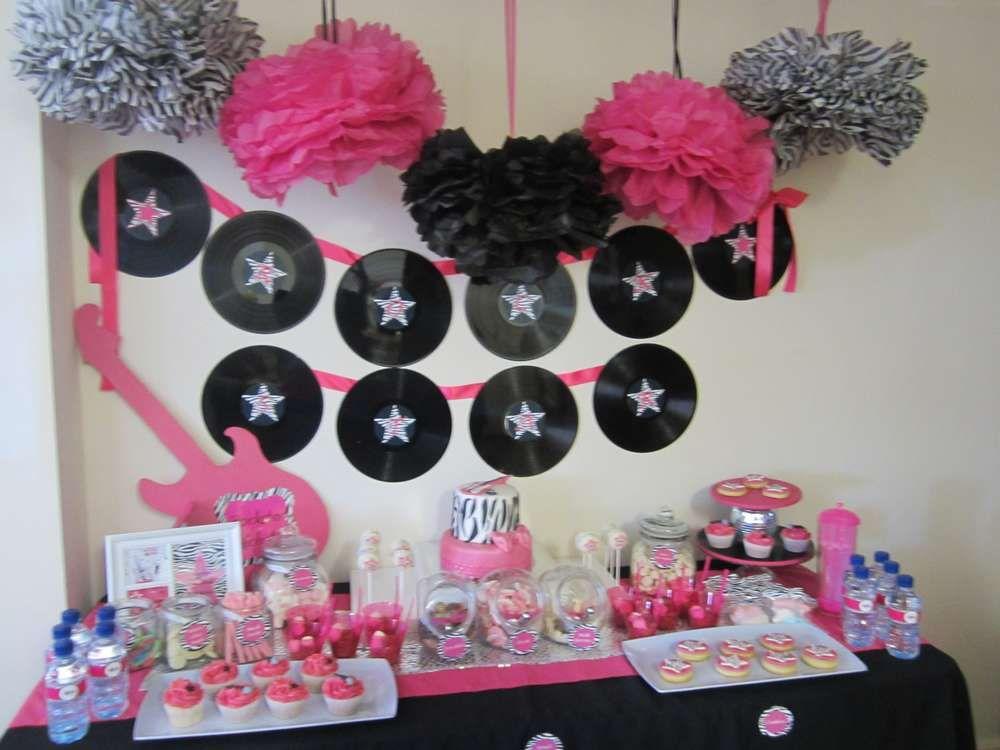pink black and zebra Birthday Party Ideas Zebra birthday Pink