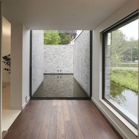 Villa Rotonda By Bedaux De Brouwer Architects In 2020 Brick Facade Aluminium Windows And Doors Architecture