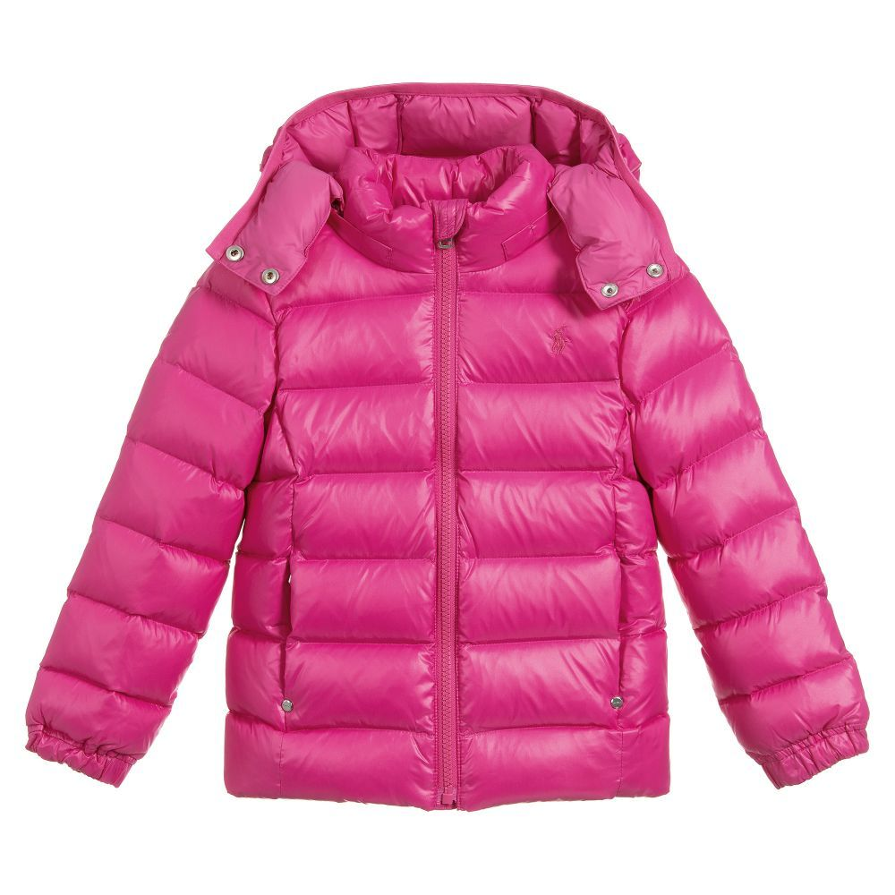 4d7f091e Girls Pink Down Padded Jacket for Girl by Polo Ralph Lauren ...