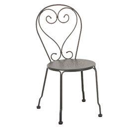 Chaise empilable en métal Flores grise   Table jardin   Pinterest ...
