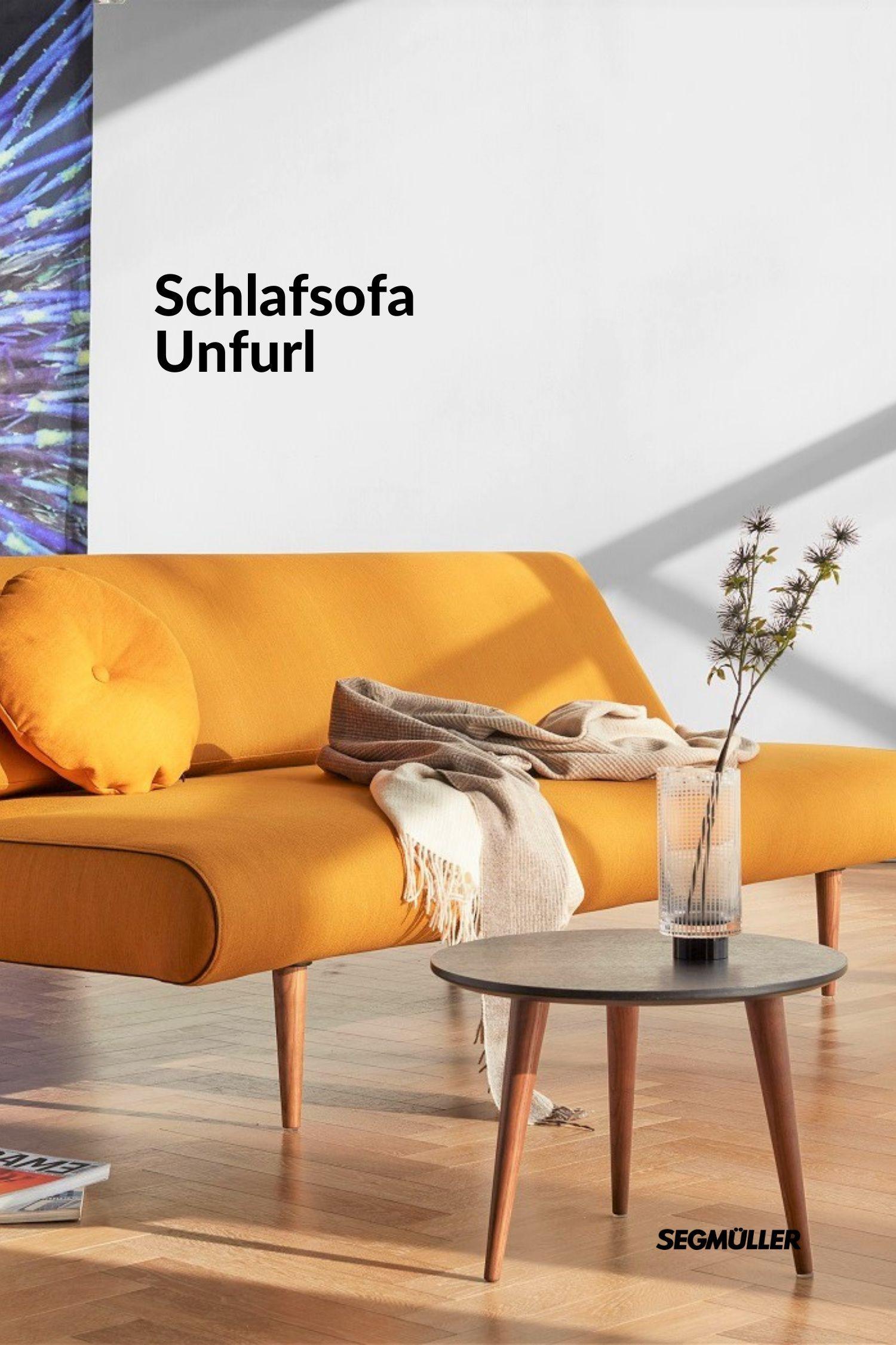 Schlafsofa Unfurl - Gelb wohnen