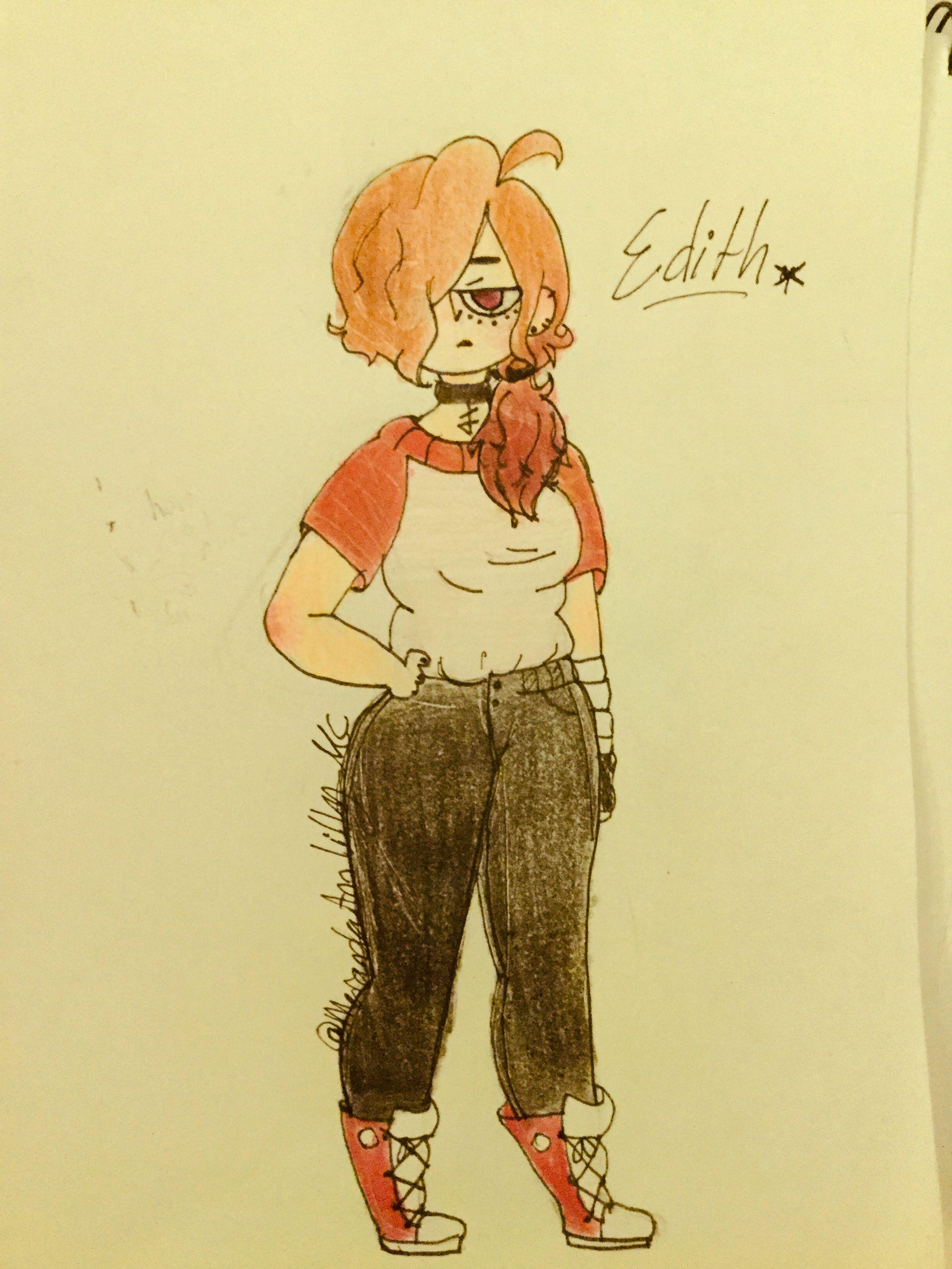 Redraw of my OC Edith Drawing by Meranda Ann Lilly ...