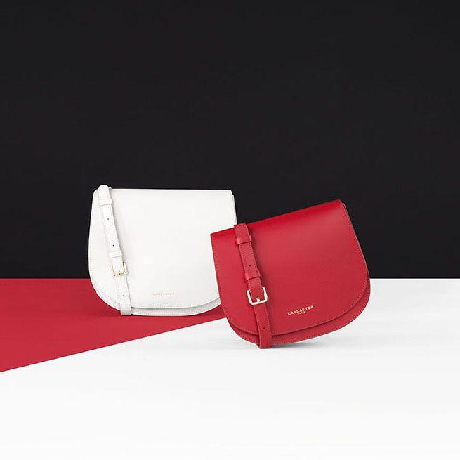 camelia black Paris smooth white Camelia Bags Shoulder shoulderbag leather sac besace Lancaster accessory setdesign red bag OZgtxw