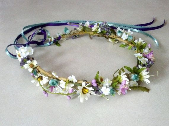 Simple Cute Little Floral Head Garlands As Favours For The Girls