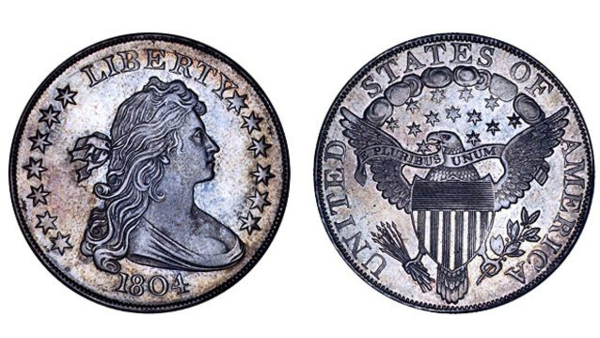 1 Dollar 1804 Bust Dollar Class I Mickley Hawn Queller Specimen 3 294 000 In 2020 Valuable Coins Coins Silver Bullion
