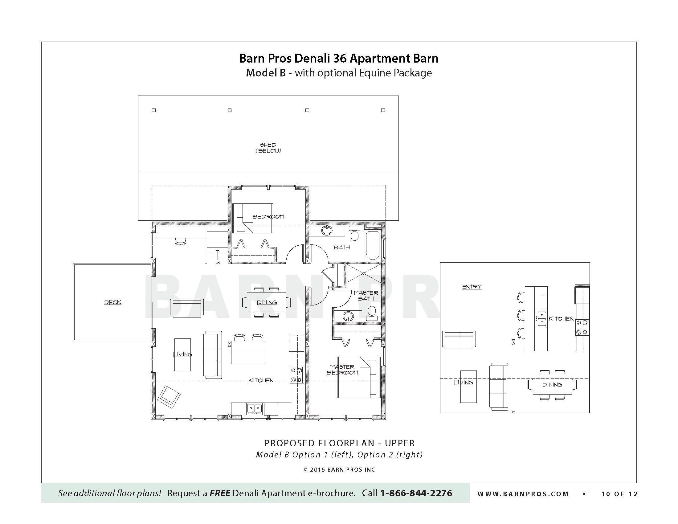 Apartment Barn Barn With Loft The Denali Barn Apt Barn Pros
