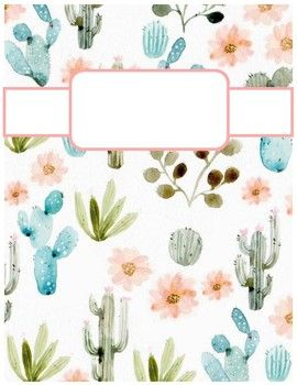 cactus print binder cover sheets by cheyenne bowen tpt for my
