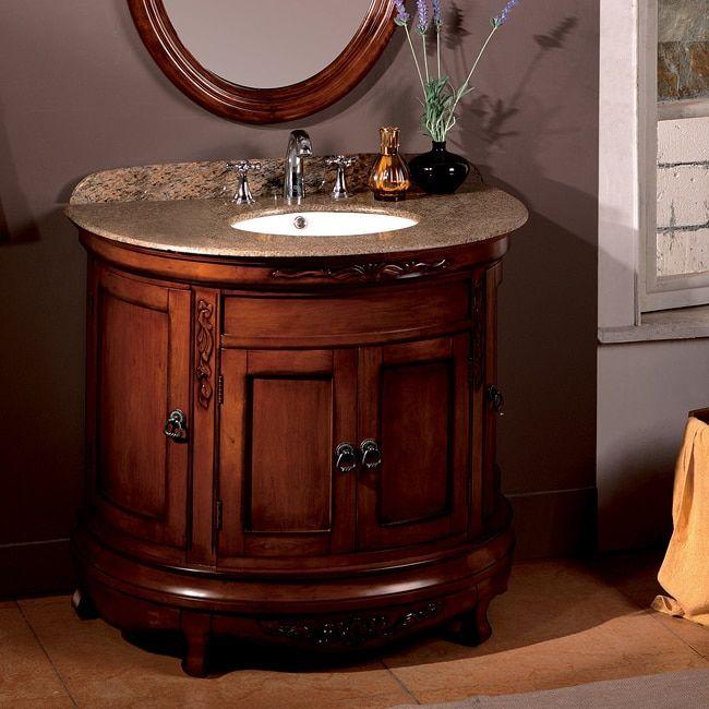 Web Image Gallery OVE Decors Vivian inch Single Sink Bathroom Vanity with Granite Top