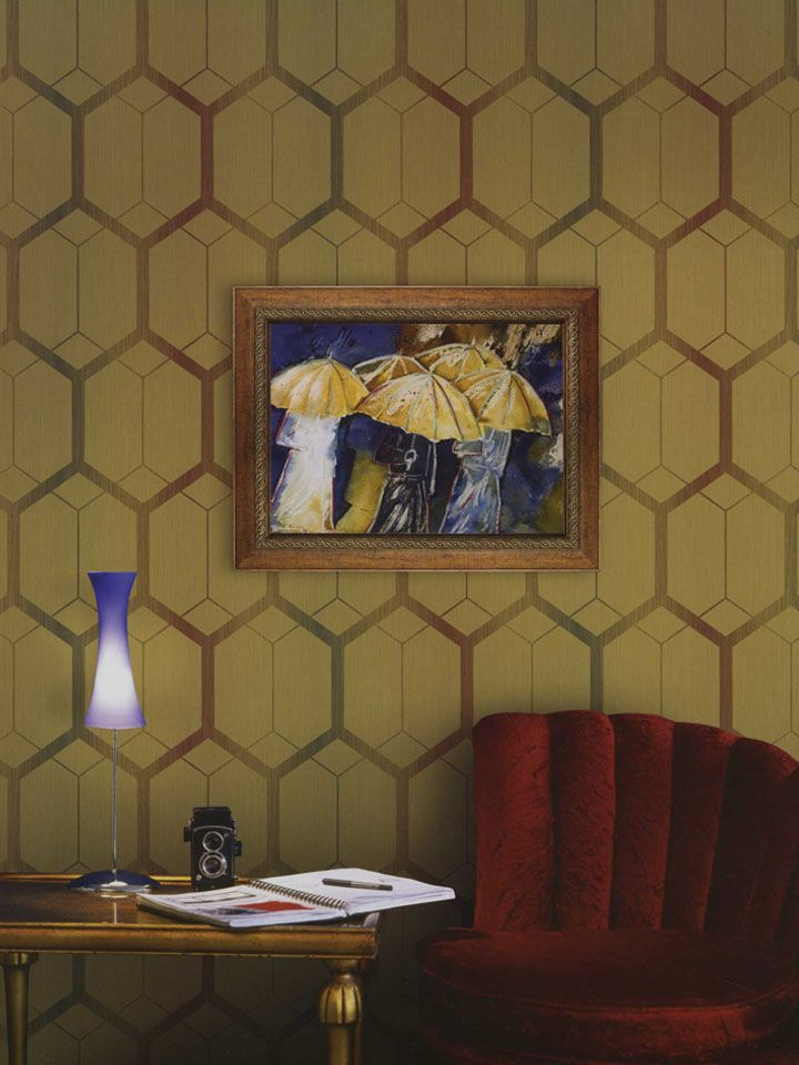 Modern Geometric Wallpapers For The Home Or Office At Http Lelandswallpaper Com Warm Honeycomb Geometric Wi Geometric Wallpaper Classic Wallpaper Wallpaper
