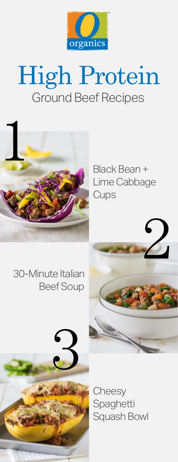 Meal prep made simple with O Organics®! You have to try these three high-protein recipes, featuring meal prepped ground beef!