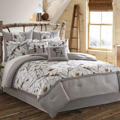 True Timber Snowfall Comforter Set In White Bedbathandbeyond Com