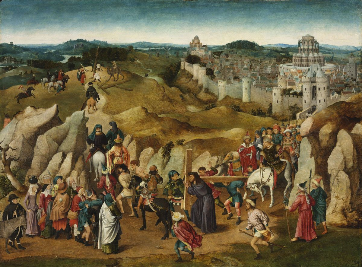 Christ' Journey Calvary Jan Van Eyck. Szpmszeti