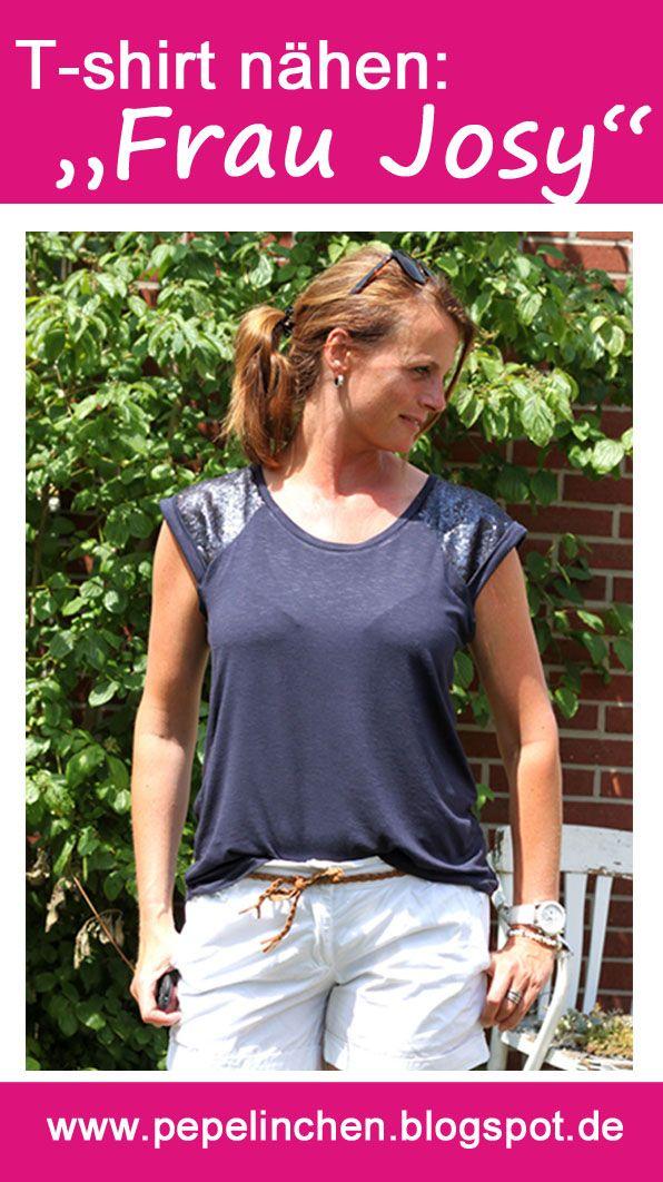 Rums: T-shirt nähen - Frau Josy | Schnittmuster frauen ...