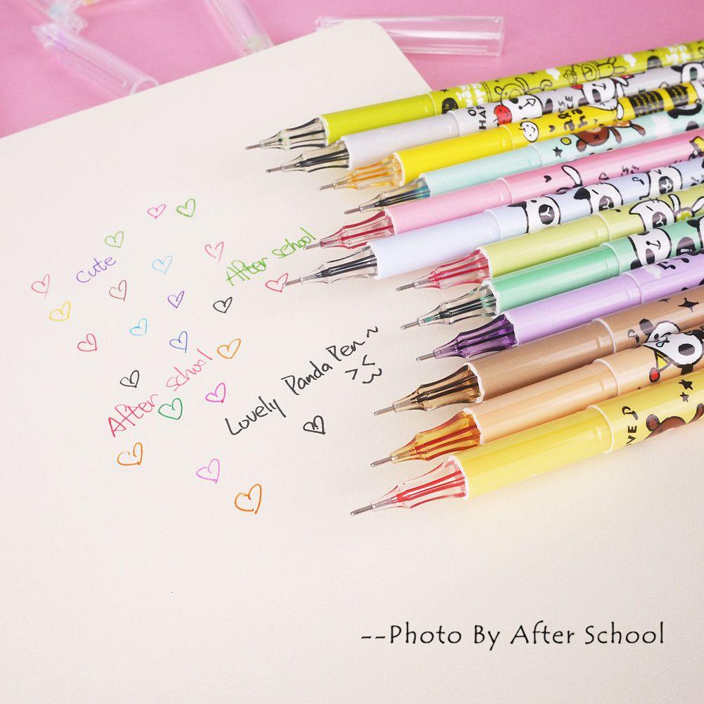 6 pcs lot chocolate stick lapices gel pen sweet 0 38mm black gel ink pens  stationery