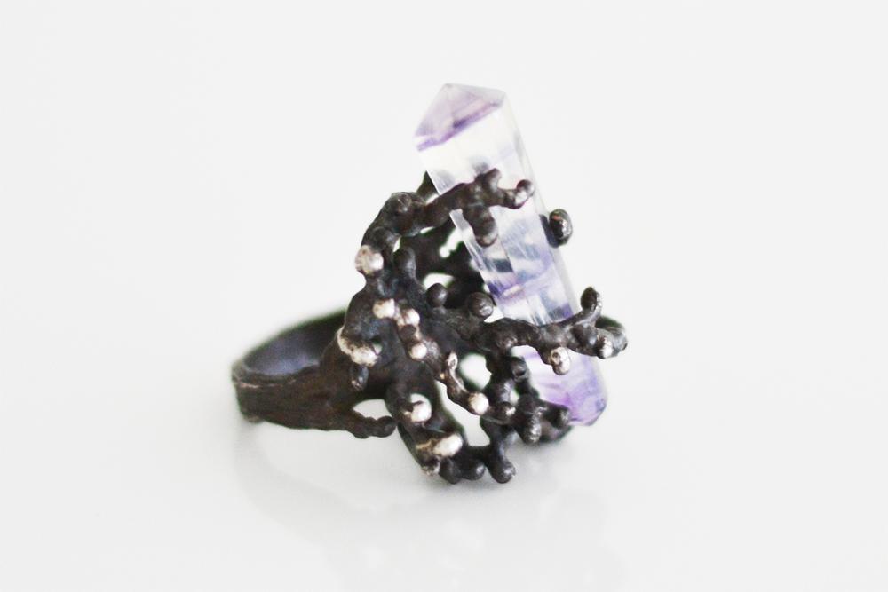 Coral Crystal Ring by Dallas Maynard