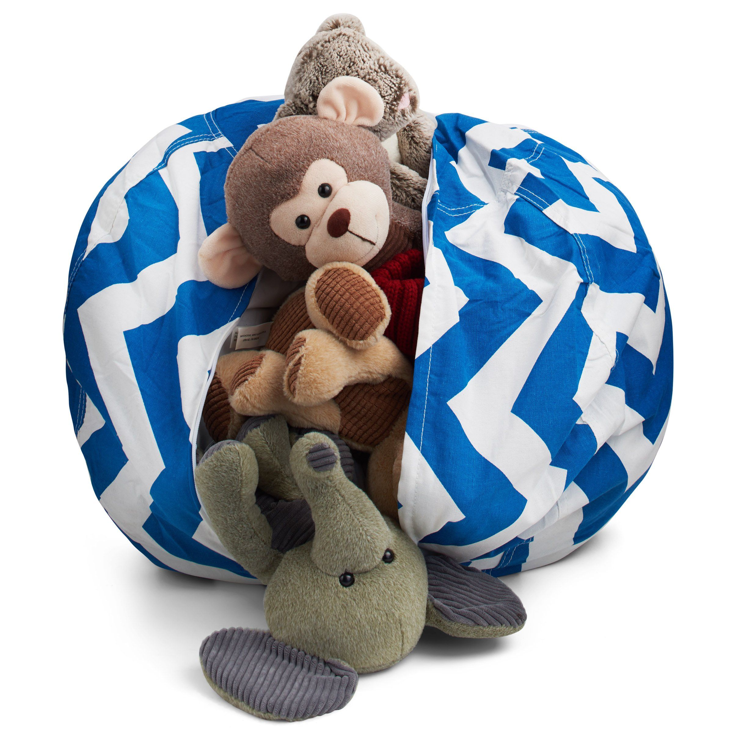 Smart additions stuffed animal storage bean bag chair 2 in