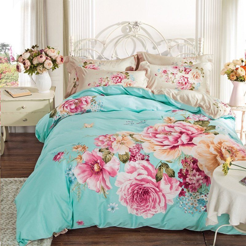 Bedding Sets, Pink And Mint Twin Bedding