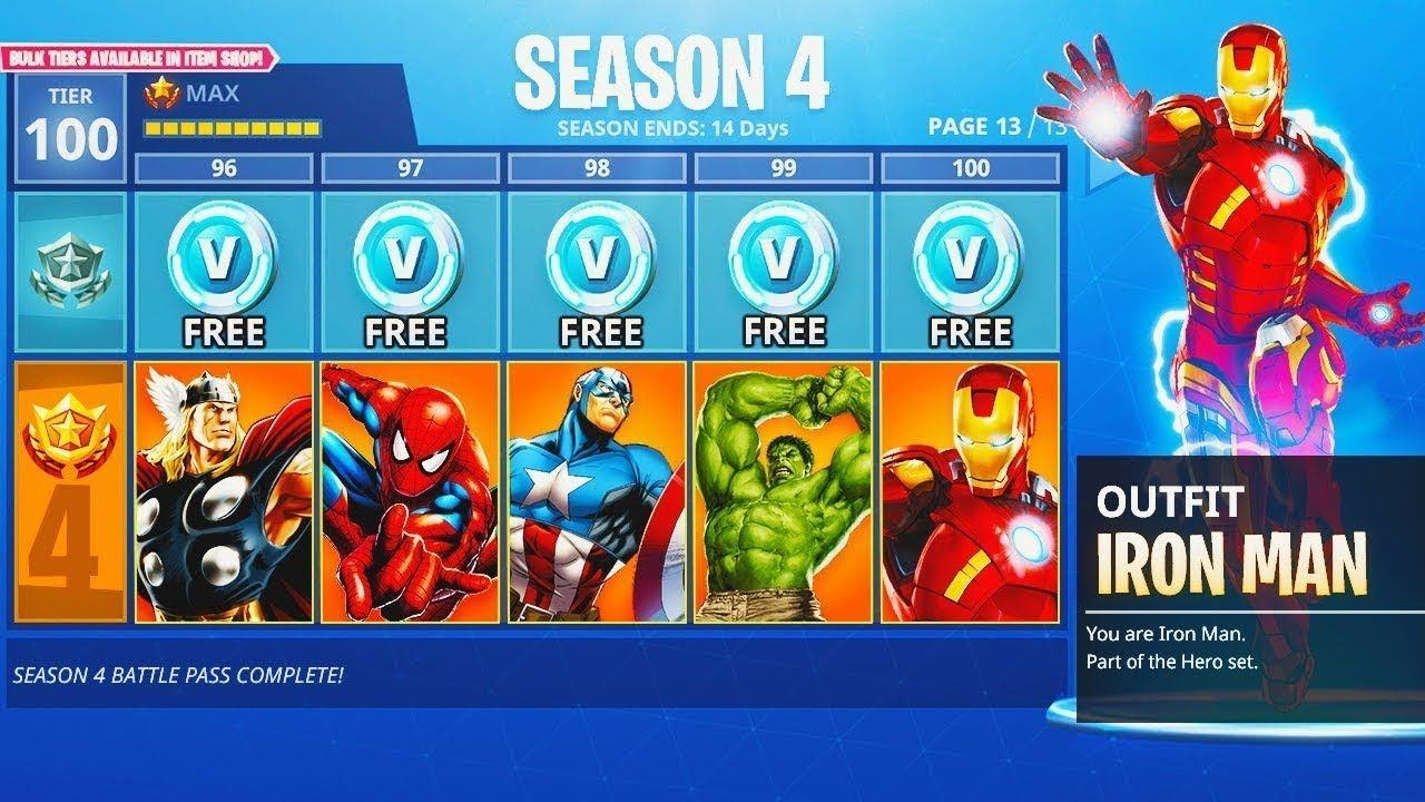 How To Get Free Season 4 Max Battle Pass Tier 100 In Fortnite - how to get free season 4 max battle pass tier 100 in fortnite battle