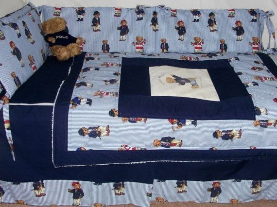 Polo Teddy Bear Crib Nursery Set Handcrafted With By