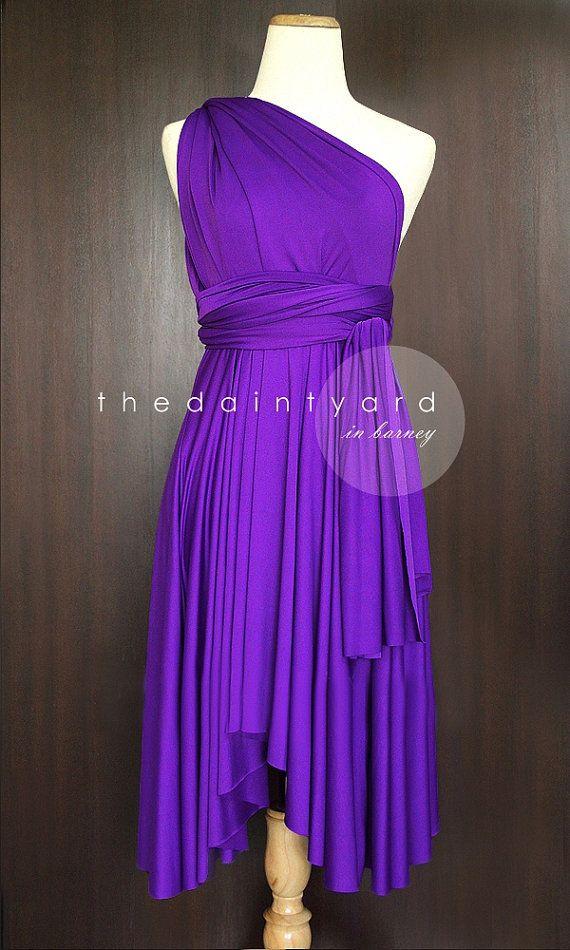 Barney Brautjungfer Cabrio Kleid Infinity Kleid Mehrwege Kleid Wrap ...
