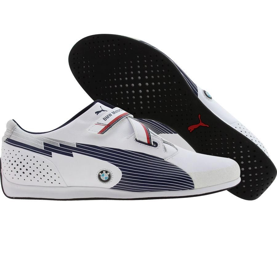 433e0a39609 Puma Racing evoSPEED Low - BMW shoes in white and medieval blue. Should  have bought them when I had a chance!