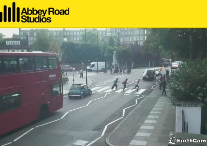 watching stupid tourists on this abbey road cam is hilarious