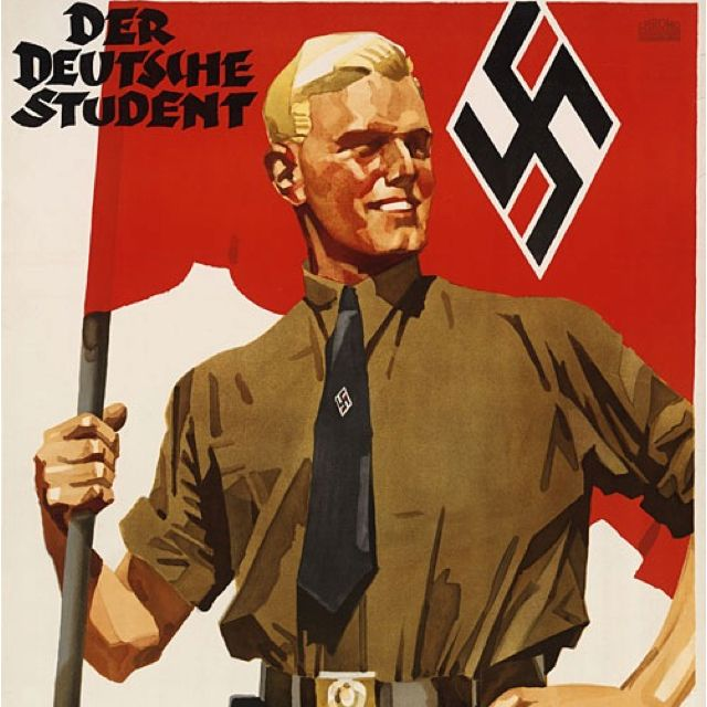"""Most German war poster ever. I use this as an example when discussing the medium. (""""Third Reich Nazi Germany"""")"""