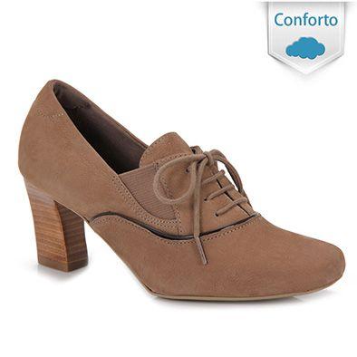 d44a4b204 Sapato Oxford Feminino Usaflex L2406 - Bege | Moda in 2019 | Sapatos ...