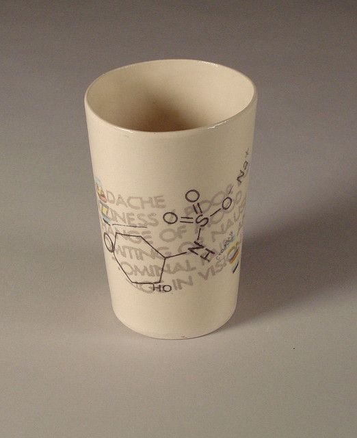 cup with screen printed decal fired at cone-05