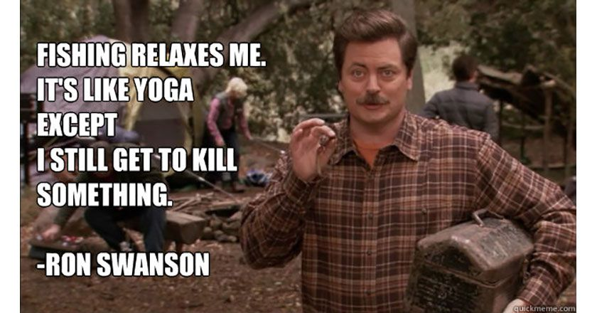 Image result for ron swanson exercise