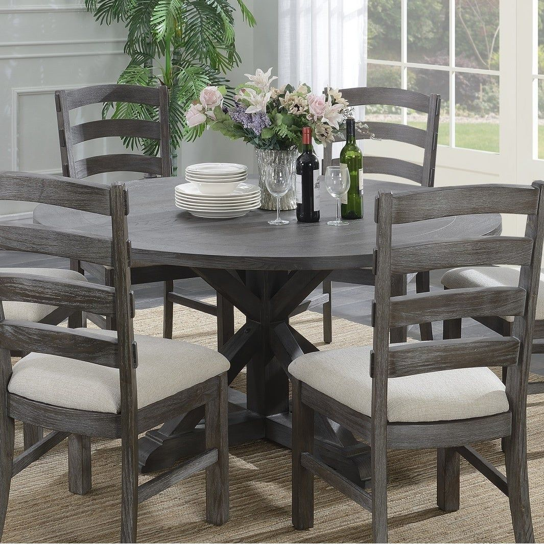Pin By Mary Boston On My Future Home Grey Dining Tables Round Dining Room Table Grey Round Dining Table