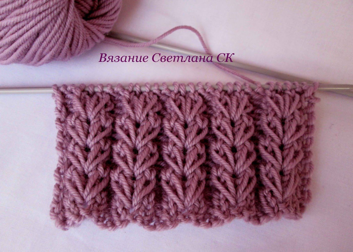 How to knit elongated crochet loops: several options 77