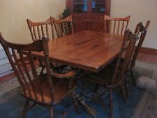 Cushman Colonial Maple Dining Room Table 6 Chairs