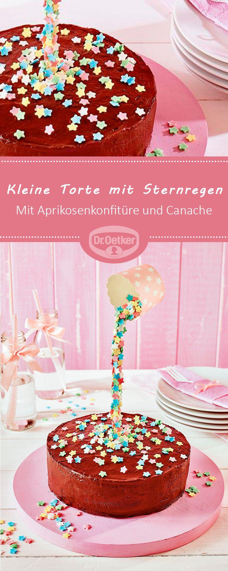 Kleine Torte Mit Sternregen Rezept In 2020 Kleiner Kuchen Kuchen Rezepte Ausgefallen Und Kuchen Und Torten