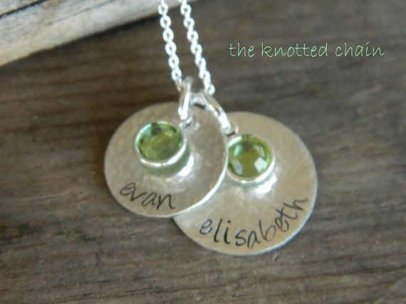 Hand Stamped Hammered Sterling Silver Layered by theknottedchain, $48.00 These are adorable.