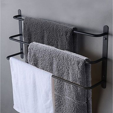 Photo of towel bar 3 tier Stainless Steel Bathroom Towel Rack wall mounted