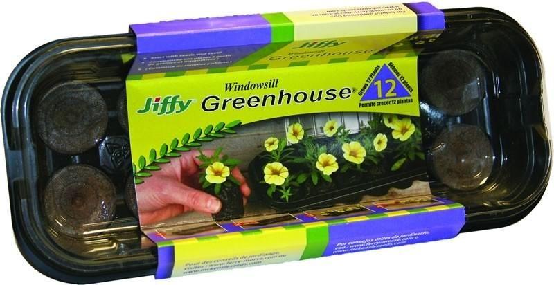 Jiffy 5710 Peat Pellets Windowsill Greenhouse 12 640 x 480