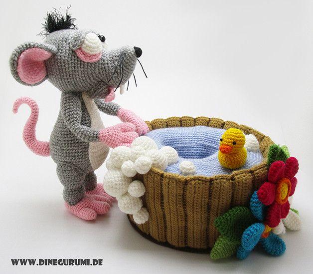 Wasserratte Häkelanleitung | Amigurumi häkelanleitung, Ratten und ...