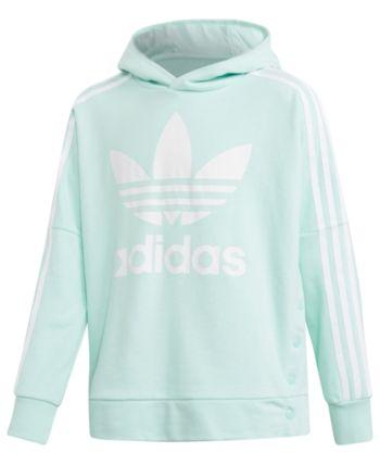 Kids Adidas Hoodie Sweatshirt Mint