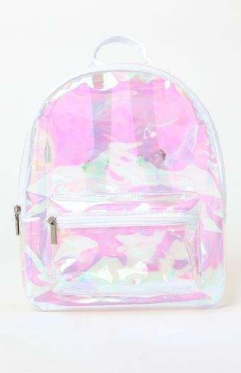 22de8c416d2a Make a bold fashion statement with the Clear Mini Backpack from LA Hearts.  This mini backpack features a clear design