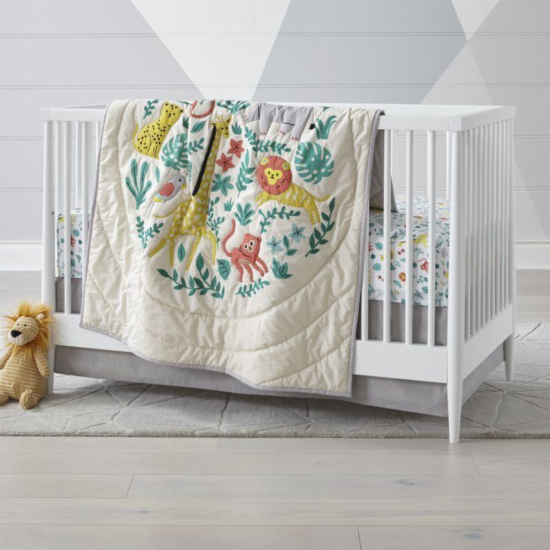 Safari Club Crib Bedding Crate And Barrel Cribs Crib Bedding Animal Baby Quilt